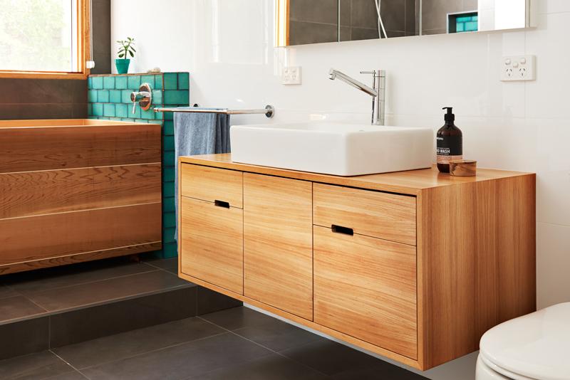 Japanese elm vanity auld design for Asian style bathroom vanities