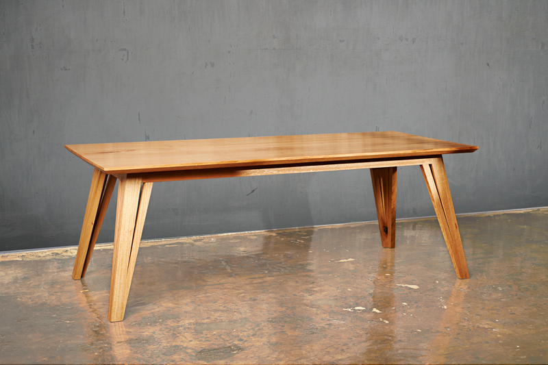 Handmade timber table custom Australian furniture design
