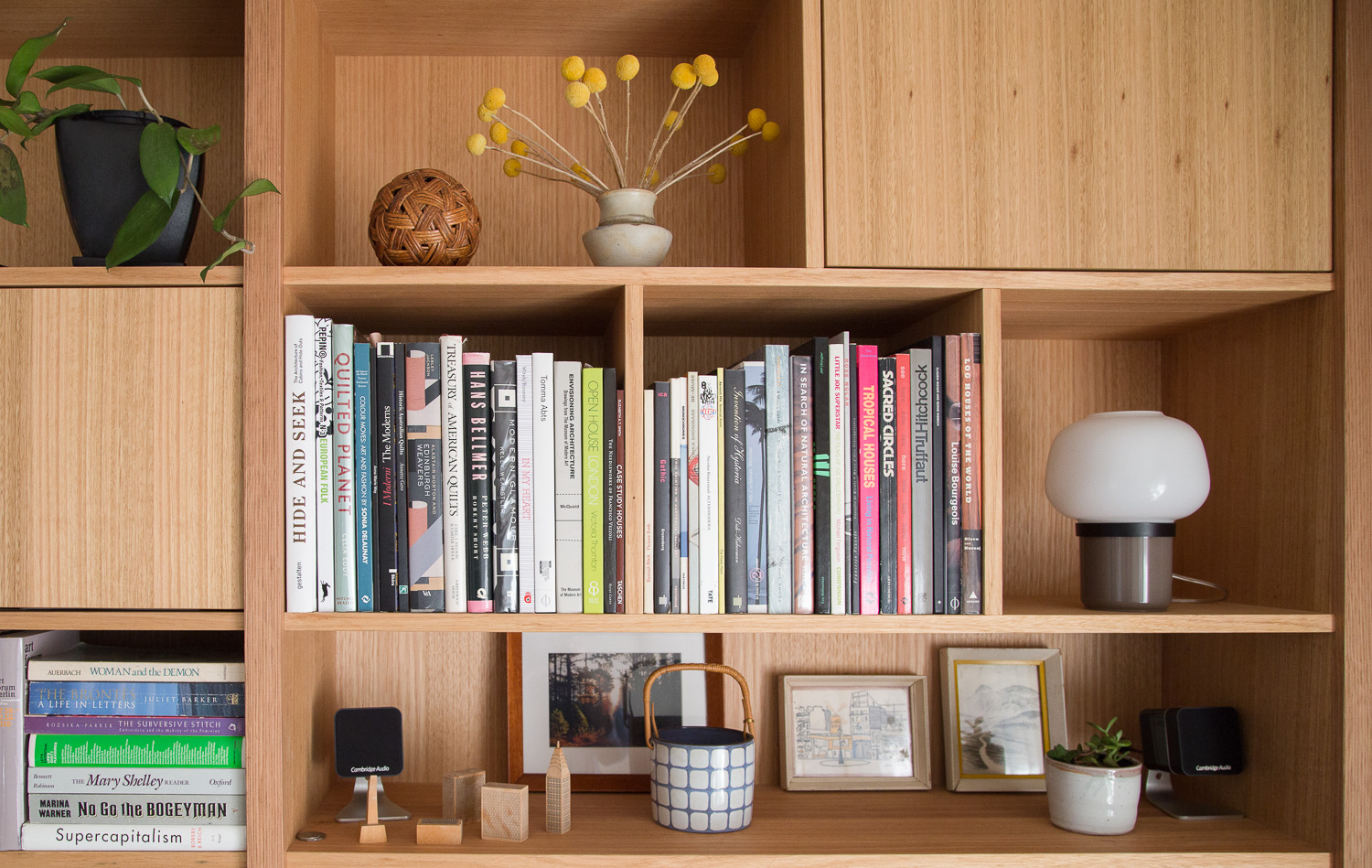 Custom timber joinery shelving unit