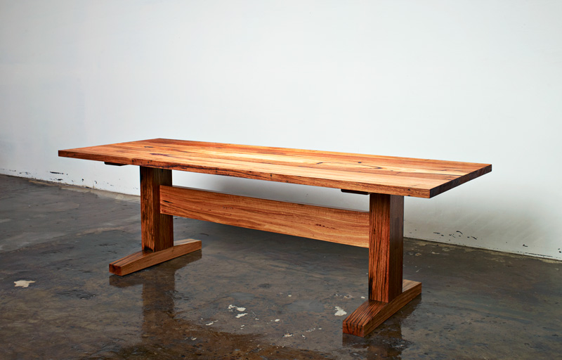Auld Design Handcrafted Table with Reclaimed Timber | Custom Furniture and Joinery | Melbourne & Geelong