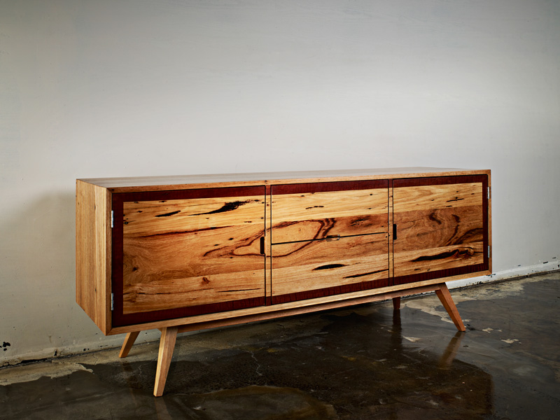Auld Design handcrafted reclaimed Messmate Entertainment Unit | Furniture Design & Custom Joinery | Melbourne & Geelong
