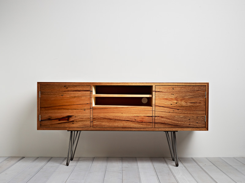 Auld Design Handmade Entertainment Unit in Solid Messmate | Melbourne and Geelong Furniture Design