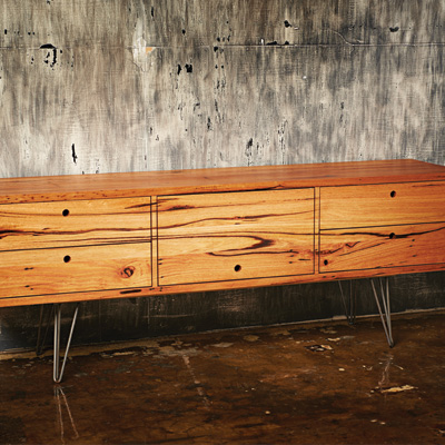 handmade timber sideboard | sustainable timber geelong | locally sourced timber |