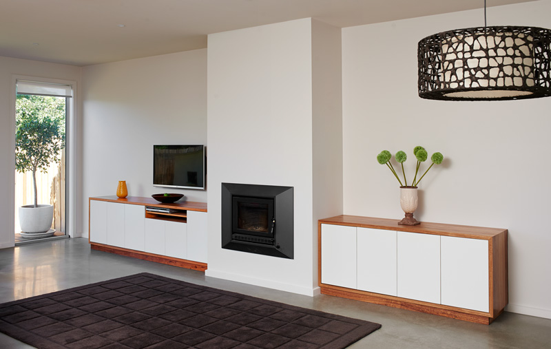 Custom Joinery Fitted Entertainment Unit and Sideboard in Reclaimed Timber | Auld Design Custom Furniture and Joinery | Melbourne & Geelong