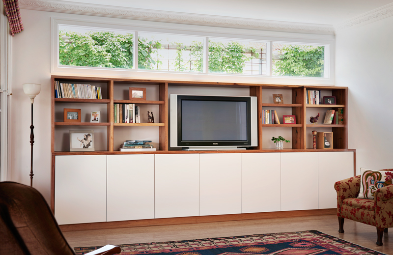 Auld Design handcrafted solid messmate joinery | sustainable timber | entertainment unit | Melbourne and Geelong