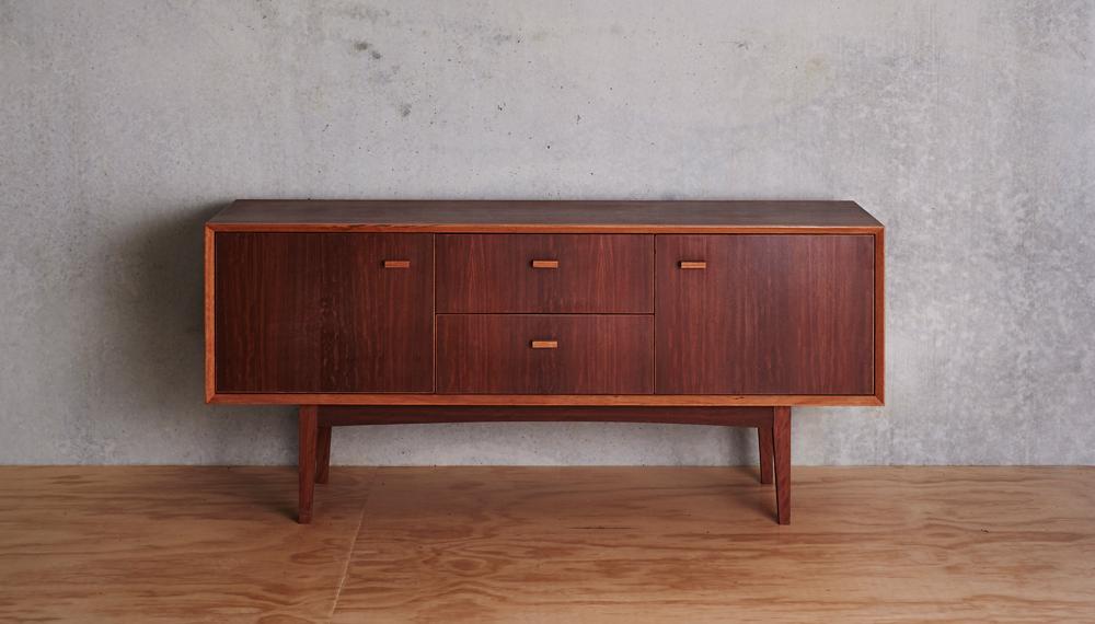 Australian sustainable timber   Auld Design Handcrafted Red Ironbark Veneer Sideboard   Furniture design Melbourne and Geelong