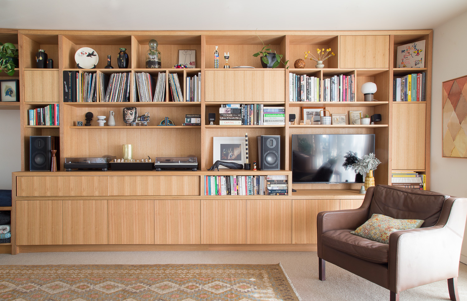 Handcrafted sustainable timber | Auld Design Custom Joinery Wall Unit | Furniture Design Melbourne and Geelong