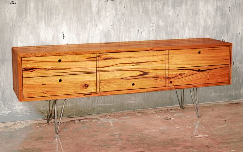 Custom designed furniture - sustainable timber sideboard - Geelong, Victoria, Melbourne