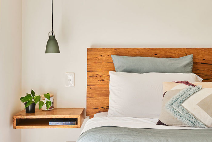 Custom designed furniture - Auld Design floating bedside table - Barwon Heads, Geelong, Victorian