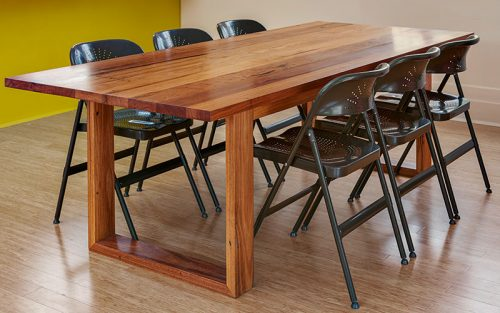Customed designed box frame table - sustainable locally sourced Australian timber table - Geelong, Melbourne, Victoria