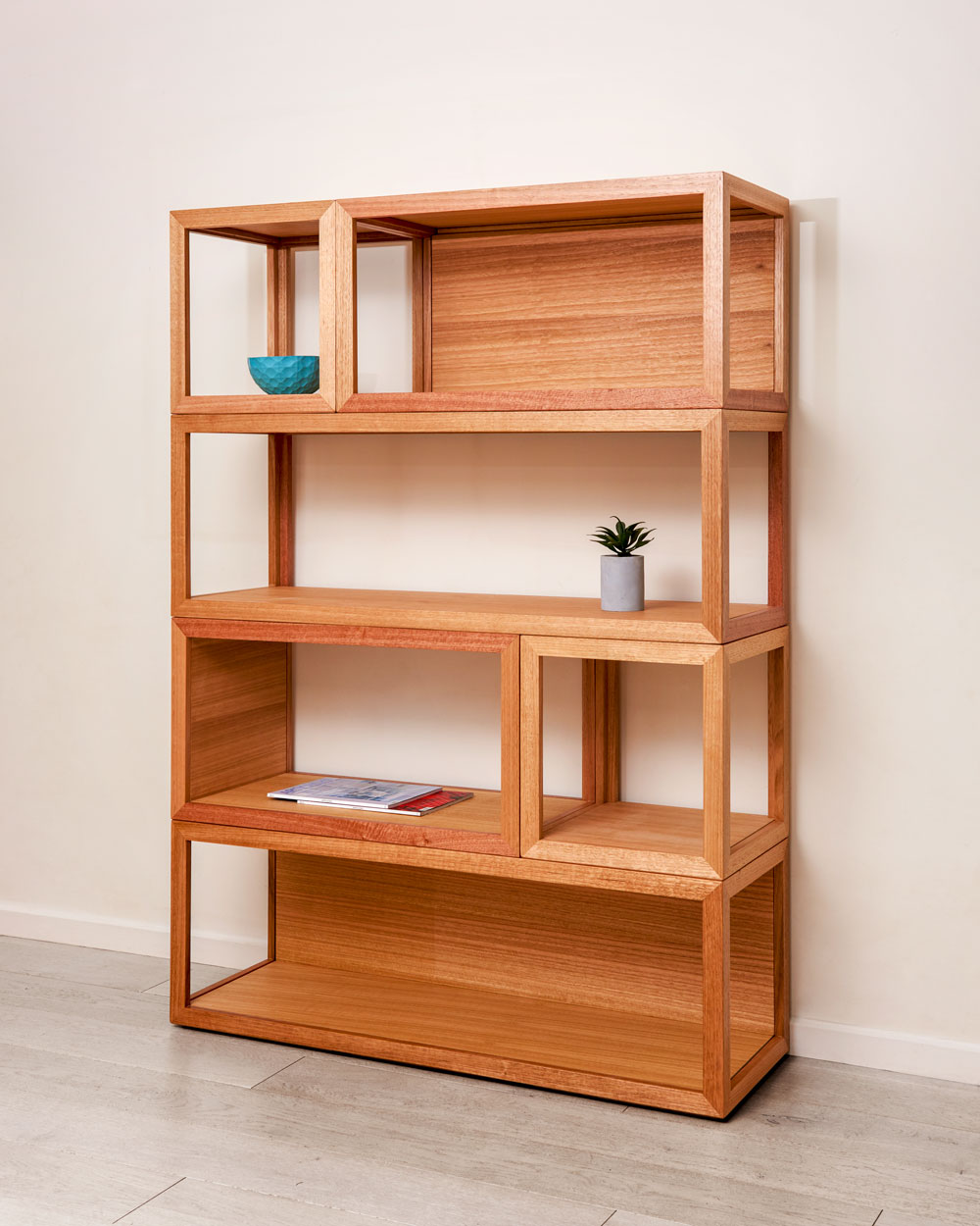 Cubis Shelf System - Custom designed furniture - Geelong, Melbourne, Victoria - sustainable timber