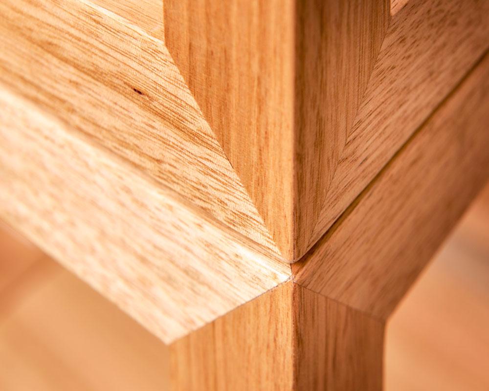 close up detail - cubis shelf system - australian timber handmade furniture