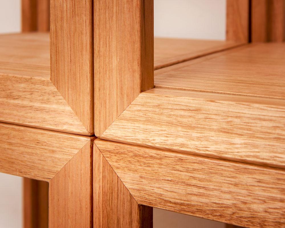 Custom made Australian timber shelf unit with multiple combinations