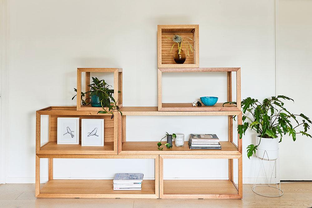 Cubis multiple combination shelf system - Custom designed furniture Geelong Melbourne Victoria