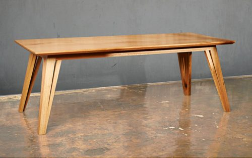 Custom designed furniture - Geelong, Melbourne, Victoria - locally sourced sustainable timber - Dawson dining table