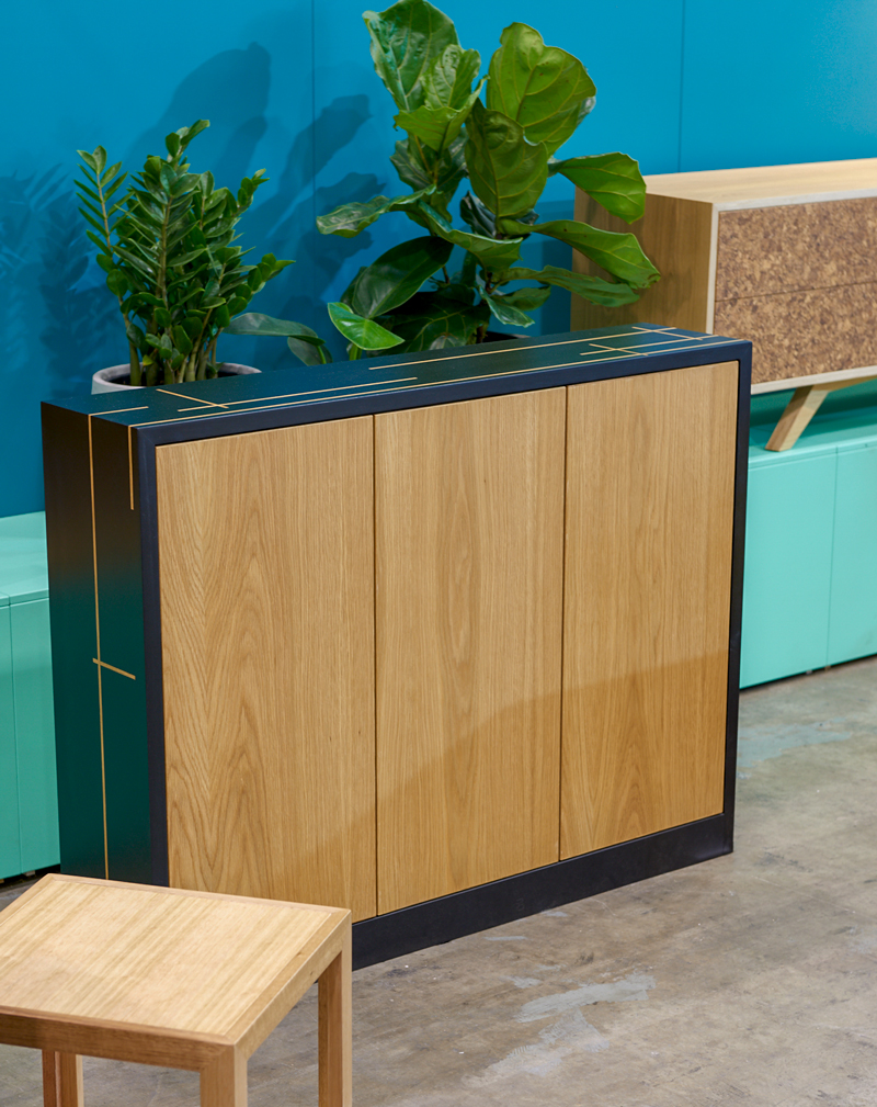 Custom designed furniture - hall stand with storage - Melbourne and Geelong