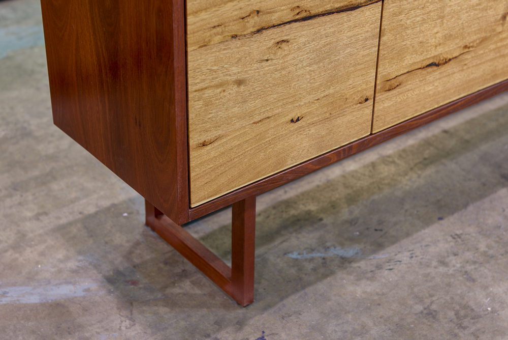 Locally sourced timber sideboard detail - Geelong, Melbourne, Victoria