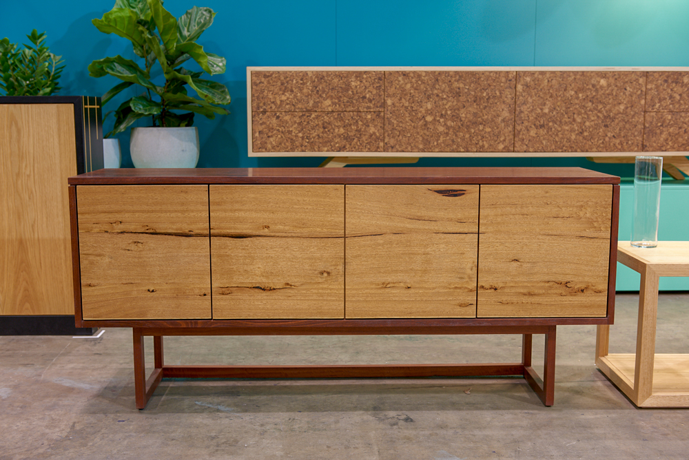 Custom designed locally sourced timber sideboard. Geelong, Melbourne, Victoria.