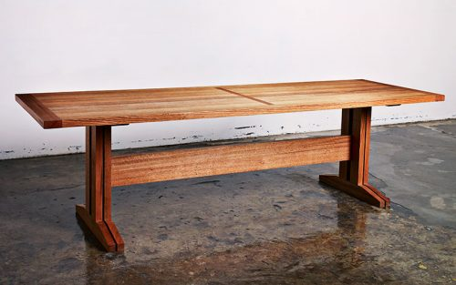 Custom designed furniture - Geelong, Melbourne, Australia - locally sourced reclaimed timber from the Queenscliff peer.
